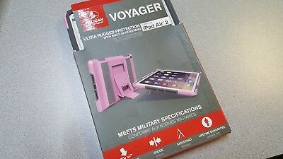 NEW OEM Pelican Voyager Ultra Rugged Protection Case For iPad Air 2 PINK/GRAY