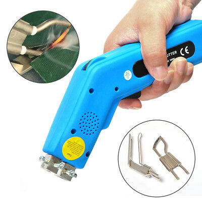 Electric Hand Held Hot Heating Knife Cutter Polyester Fabric Cutting 110V