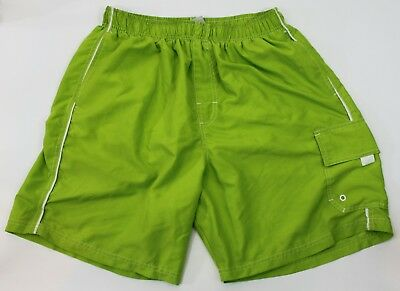 aceb2f9b45 Mad Iguana Mens XL Lime Green Swim Trunks Board Shorts Swimwear Mesh Lining