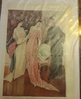 THE DELINEATOR 1912 MAGAZINE AD WOMANS DRESS COAT SKIRT VINTAGE lot 1