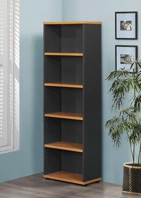 Stella Pilot Bookcase Work Computer Study Office Home Beech Cherry Ironstone