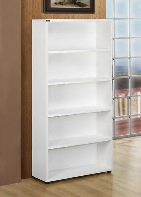 Stella White Bookcase Work Computer Study Office Shelf Home Wooden