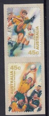 Australia 1999 INT. 100 YEARS OF TEST RUGBY P&S Coil Pair MNH Price  $1.00