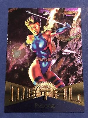 1995 Fleer Marvel Metal Card #112 Psylocke