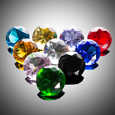 10 Colors Birthstones Paperweight Glass Diamond 50mm Crystal Art Wedding Decor