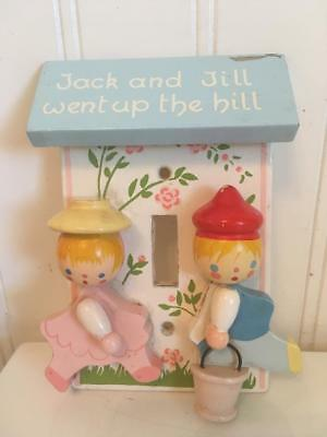 Adorable 3-D Light Switch Wall Plate Cover ~ Jack and Jill Went Up the Hill