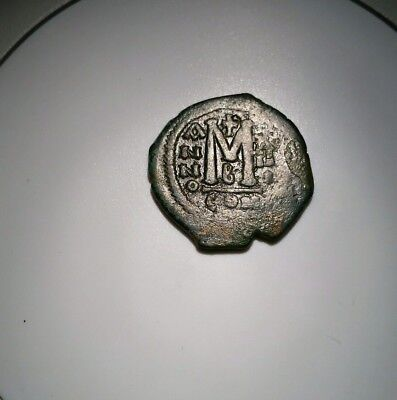 Ancient Byzantine coin Maurice Tiberius 595 AD Constantinople