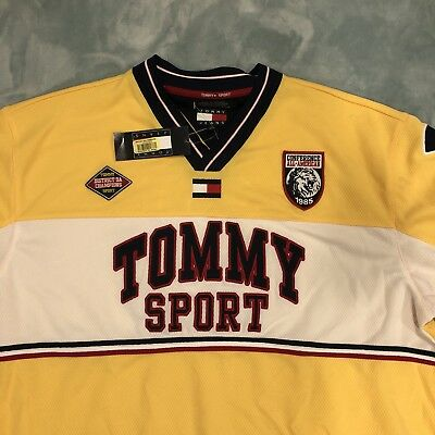 "NWT Vintage Tommy Jeans ""Tommy Sport"" Soccer Jersey Style Shirt"