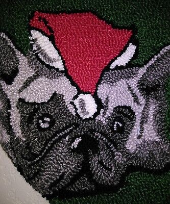 NEW Dillards Stocking Frenchy Frenchie Canine Dog Puppy Christmas by C&F Home
