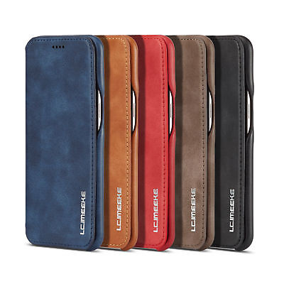 For Huawei P30 Pro / P20 Lite Flip Vintage Leather Case Card Wallet Cover Stand