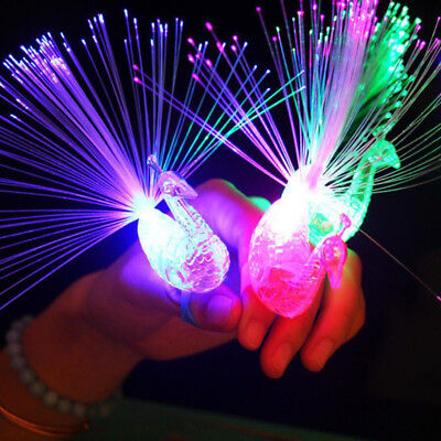 2018~new Creative Baby Child Peacock Color LED Fiber Finger Light Party-Toy