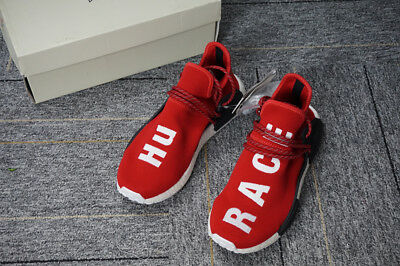 d89fa79d0 Authentic Size 10.5 Adidas NMD HU Pharrell Human Race Scarlet -BB0616 Mens  Shoes
