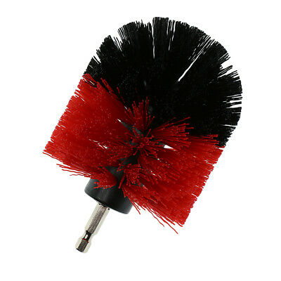 Tough Drill Brush For Bathroom Tile Grout Car Outdoor Cleaning Red 3.5inch