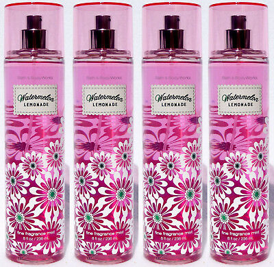4 Bath & Body Works WATERMELON LEMONADE Fine Fragrance Mist Spray
