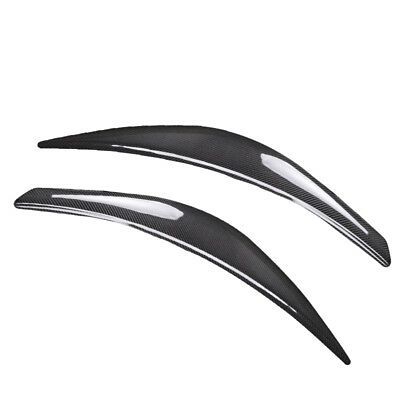 2x Carbon Fiber Headlight Eyebrows Cover Eyelid Trim For Hyundai Veloster 11-17