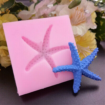 Starfish Silicone Christmas Mould for Cake Icing Decor Sea Fish Star Beach Ocean
