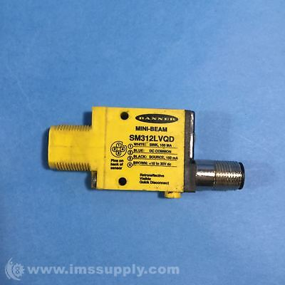 Banner SM312LVQD Mini Beam Photoelectric Sensor USIP