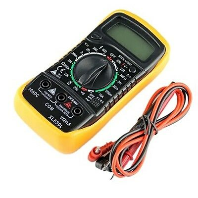 Digital Multimeter XL830L Volt Meter Ammeter Ohmmeter Yellow Tester UO#
