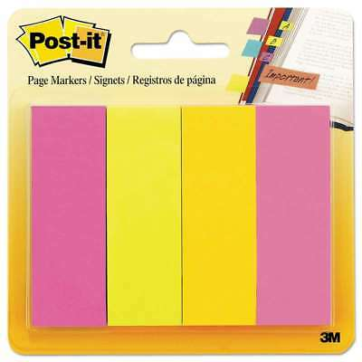 Post-it® Page Flag Markers, Assorted Brights, 50 Strips/Pad, 4 Pa 021200588488