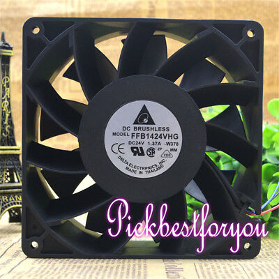 Original DELTA FFB1424VHG cooling fan DC24V 1.37A 140*140*50mm 3pin #MY81 QL