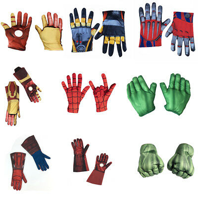 Anime Gloves Child/ Adult Spider Man Iron Man Captain America Cosplay Accessory