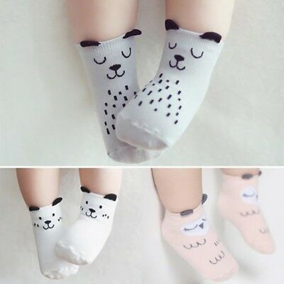 Cute Baby Toddler Cartoon Socks Cotton Socks Kids Ankle Non-Slip Socks With Ear