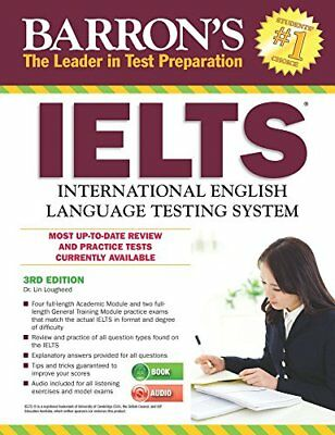 BARRON'S IELTS WITH AUDIO CDS, 3RD EDITION By Lin Lougheed **BRAND NEW**