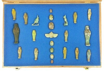 Large Lot of Ancient Egyptian Ushabti Figurines Statues Scarabs BC