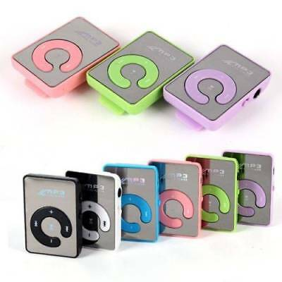 Portable Mirror Mini Clip USB Digital Mp3 Music Player Support 8GB SD TF Card s