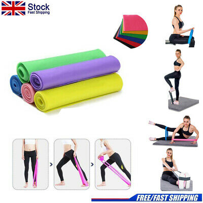 Elastic Resistance Loop Band Yoga Exercise Gym Fitness Workout Stretch Physio UK