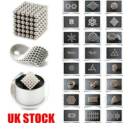 216pcs 5mm Magic Magnet Magnetic Sphere Neodymium DIY Balls Cube Luxury Beads UK