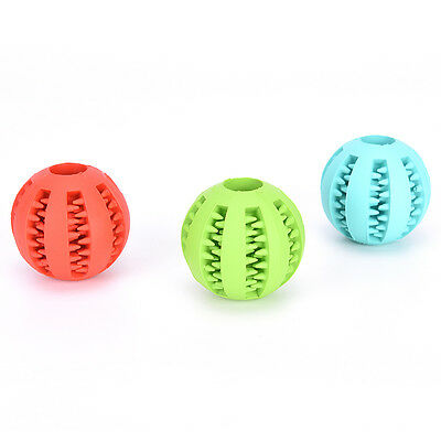 1x Rubber Ball Dog Chew Toy Chewing Ball Pet Toys Ball Tooth Cleaning Balls Food