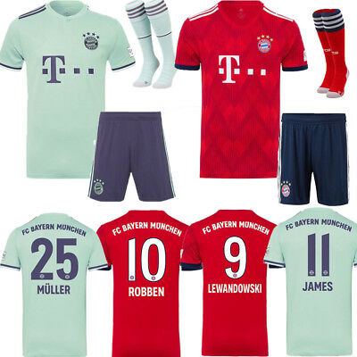 18-19 Football Kits Kids Boy 3-14Y Soccer Outfits Short Sleeve Team Club Suits