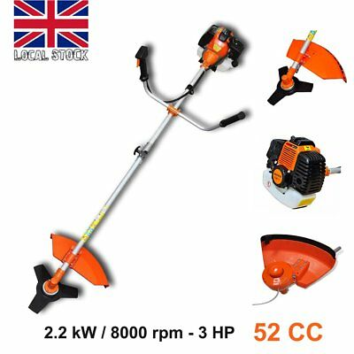 Pro 52CC Powerful Petrol Strimmer Garden Grass Trimmer Brush Cutter 2.2KW 3HP