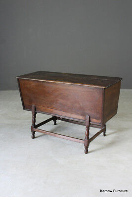 Antique Oak Dough Trough Side Table Kitchen Rustic Country