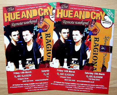Hue And Cry - Glasgow 2014 - Remote Weekend Tour - Concert Flyer