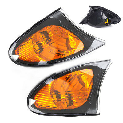 New Pair Yellow Turn Park Signal Corner Light Lamp Left Right Fit BMW E46 02-05