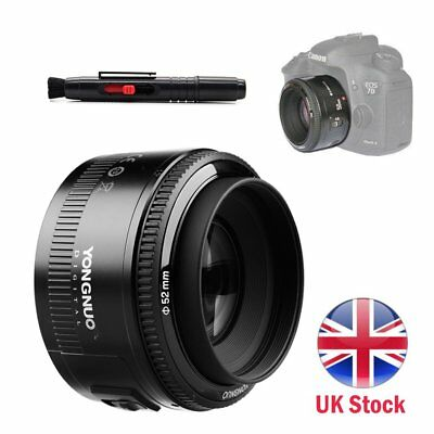 Yongnuo YN 50mm F1.8 AF MF Prime Fixed Lens for Canon + Cleaning Pen UK