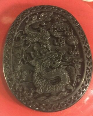 #MIX ESTATE SALE/Carved Jade STATUE/JADE Pendant VTG JADE Medallion RARE J650