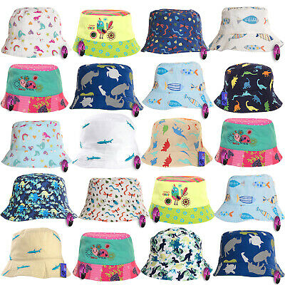 Baby Summer Sun Hat 100% Cotton Bucket Boys Girl Beach Babies Toddler Infant