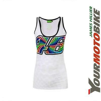 Vr46 Ladies Tank Top Multicolour Valentino Rossi The Doctor Motorcycle Bike