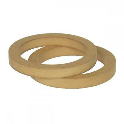 """5.25"""" 130mm Pair of MDF Speaker Spacer Mounting Rings 18mm Thick ID 144mm"""