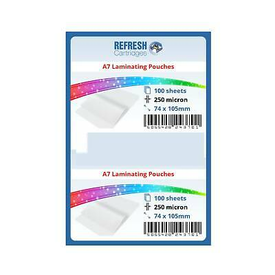 Laminating Pouches A7 (80x111mm) 250 Micron Pack of 100 Sheets