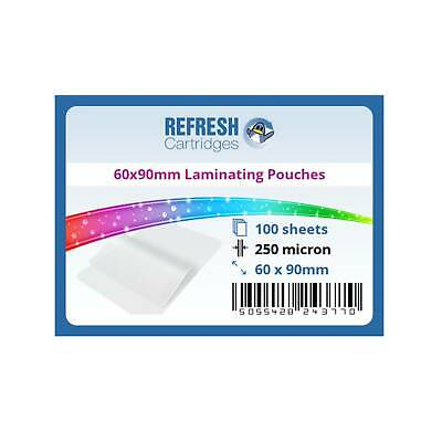 Laminating Pouches 60x90mm 250 Micron Pack of 100 Sheets