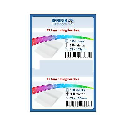 Laminating Pouches A7 (75x105mm) 350 Micron Pack of 100 Sheets