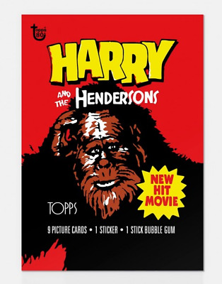 2018 Topps 80Th Anniversary Wrapper Art Card #53 53 - 1987 Harry & The Henderson