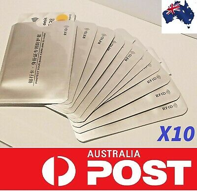 10 x RFID SECURE CREDIT CARD BLOCKING SLEEVES PROTECTOR SCAN BLOCKER ANTI THEFT