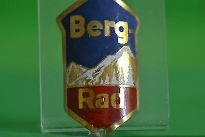 Vintage bicycle - Plaque Logo of the producer-Berg-Rad-4649