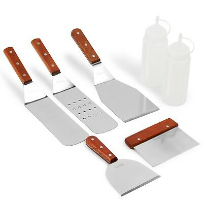 Kenley 7-Piece Griddle Spatula Tool Set Kit for Flat Top Grill Outdoor BBQ