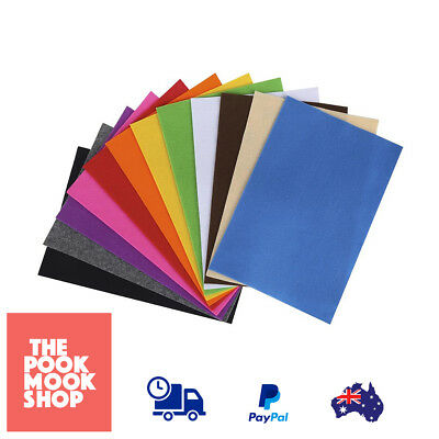 Felt Sheets Pack of 12 Arts Craft Sheet Assorted Colored Soft Crafting DIY Decor
